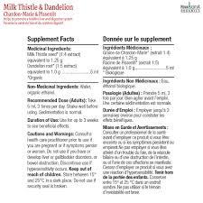 Dandelion Facts Milk Thistle Dandelion Tincture The Organics Shop