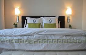 euro shams in bedroom contemporary with faux grasscloth wallpaper