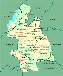 map of county spirited ireland map of county tipperary and
