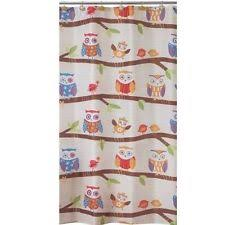 Owl Fabric Shower Curtain Allure Fabric Shower Curtains Ebay