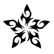 awesome black tribal star tattoo design