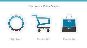 e commerce icons puzzle powerpoint shapes slidemodel
