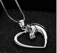 horse necklace pendant images Sleek silver lovable horse necklace limited supply all jpg