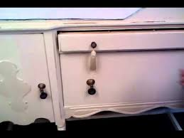 vintage painted distressed buffet server sideboard tv console