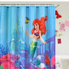 The Little Mermaid Bathroom Set Catchy Little Mermaid Curtains And Curtains Ariel Mermaid Little