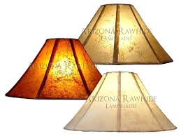 rustic lamp shade shades design for table lamps handsome bell lampshades rawhide three large modern bronze