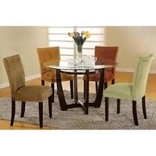 Microfiber Dining Room Chairs Mirage Table Microfiber Parson Chairs 5 Dining Set