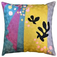 Decorative Yellow Pillows Matisse Purple Yellow Pillow Cover Cut