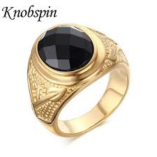 wholesale gold rings images Wholesale fashion super black stone rings men jewelry male gold jpg