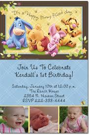 winnie the pooh birthday invitations candy wrappers thank you