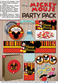 Mickey Mouse Photo Booth Party Package Izsypizsy