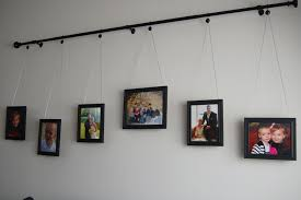 diy curtain rod gallery wall