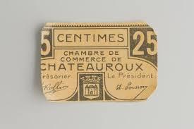 chambre de commerce chateauroux bon pour 25 centimes numéroté chambre de commerce de châteauroux