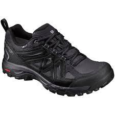 sport bike shoes salomon men u0027s evasion 2 cs wp hiking shoes black eastern