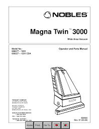 download free pdf for nobles magna twin 3000 vacuum manual