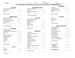 monthly financial budget template 28 images household monthly