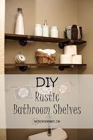 how to make easy customizable rustic bathroom shelves