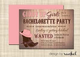 wonderful pink and black bachelorette party invitation card idea