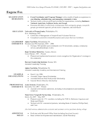 Cashier Job Duties For Resume Special Events Coordinator Resume Example 2016 Recentresumes Com