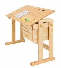 Kiefer Schreibtisch Kinderschreibtisch Moby Verstellbar Kiefer Massiv Natur Von