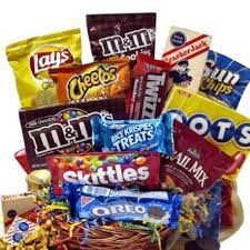 junk food gift baskets snack attack gift basket of treats aa gifts baskets