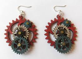 green tree earrings wooden gear earrings by green tree jewelry picture of 925 the