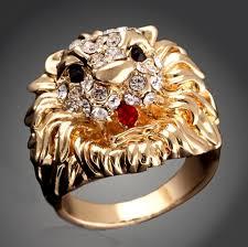 large finger rings images Buy fashion men 39 s rock punk ring gold color large jpg