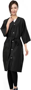 hair fashion smocks amazon com salon client gowns kimono style hair salon smocks