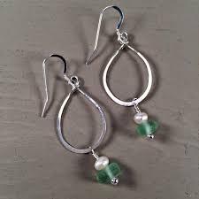 sea glass earrings coastal charms sea glass jewelry