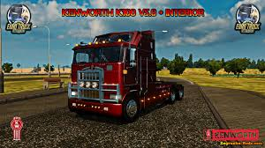 kenworth k100 kenworth k100 interior v5 0 for ets 2 zagruzka mods com