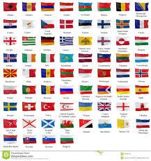 Flag Of All Countries All European Flag Stock Illustration Illustration Of Kazakhstan
