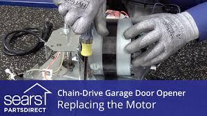 replacing the motor on a chain drive garage door opener youtube