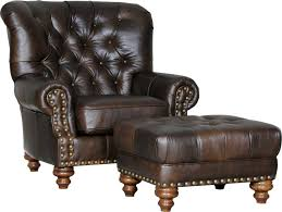 Leather Rolling Chair Ottoman Appealing Chair And Ottoman Newport Cognac Mayo Chairs
