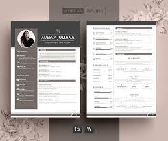 modern resume format modern resume template julianna resume templates creative market