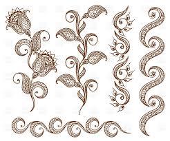 design clipart collection of floral ornamental design elements vector clipart
