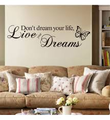 live your dream butterfly quote wall sticker room decor art