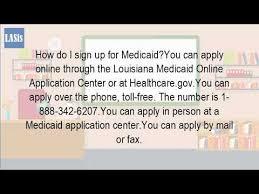 how do i apply for medicaid in louisiana youtube