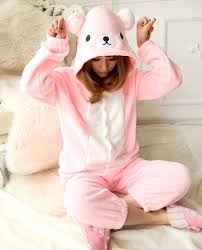Kigurumi Halloween Costume 2013 Pink Relax Bear Japan Animal Kigurumi Onesie Animal