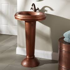 bathroom sink copper sink rustic bathroom vanities copper drop
