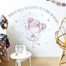 autocollant chambre fille sticker chambre noir pissenlit wall sticker chambre mural 7050