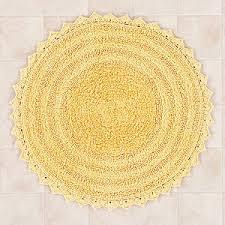 Yellow Circle Rug Yellow Round Bath Mat Polyvore