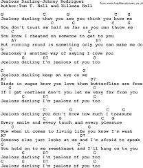 country jealous johnny rodriguez lyrics and chords
