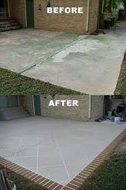 Replacing A Deck With A Patio How To Restore Concrete Patio Front Porch Decks In Easy