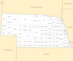 Nebraska Zip Code Map by Nebraska County Map U2022 Mapsof Net