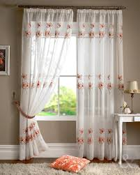 Embroidered Curtain Panels Embroidered Voile Curtain Fabric Uk Centerfordemocracy Org