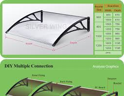 Aluminum Awning Kits Aluminum Plastic Polycarbonate Spare Awning Parts Canopy Extended
