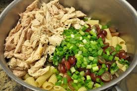redheadwhite u0026food tarragon chicken pasta salad with grapes and
