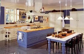 Coastal Cottage Kitchen - with blue color cabinet chic coastal home tour breezy design fox