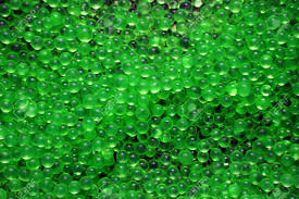 many small green balls translucent textures background