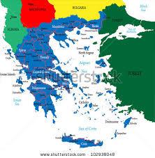 greece map political greecepolitical map stock vector 102938048